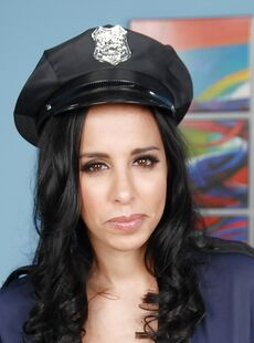 Latina Milf Lacey Cruz Demonstrates Her Big Tits In A Police Uniform