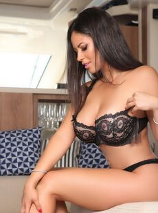 Hot Centerfold Model Fabiana Britto Strikes Great Non Nude Poses In A Swimsuit