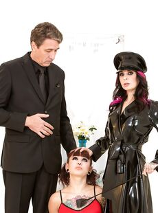 Latex Clad Joanna Angel Dominates Amelia Dire With Crop In Raunchy Threesome