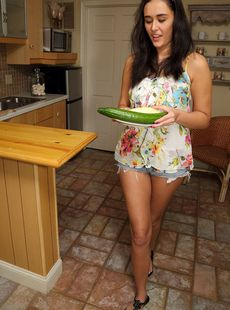 Amateur Chick Anastasia Black Sticks Anything From The Kitchen In Her Cunt