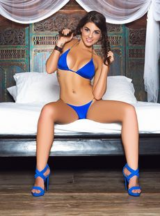 Australian Chick In Blue High Heels Jessica Ann Showing Off Her Naked Body