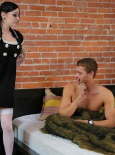 Busty Ophelia Rain As Wednesday Addams Gets Anal Banged Big Tits Jizzed