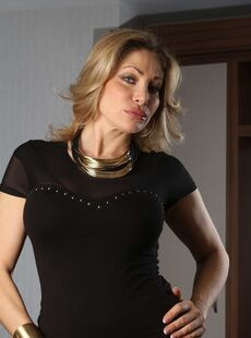 Lusty Mature Woman Vittoria Risi Drops Her Black Dress And Reveals Her Fakes 54159135