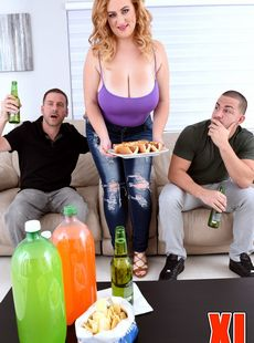Fat Hottie Mya Blair Takes Two Dicks Into Each Of Three Hungry Holes