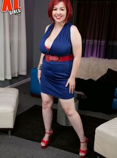 Fat Redhead Addison Bound Completely Disrobes During A Solo Session