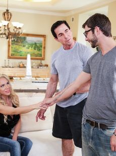 Blonde Milf Nadia North Seduces And Fucks A Boy In Front Of Her Man