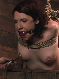 Kinky Carmen Stark Gets Tortured Her Nips Pumped While Hanging On The Ropes 82902087